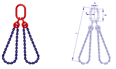 【S(6)级双肢两用链条索具,量大报价】优惠_图环形冷媒加注机图片