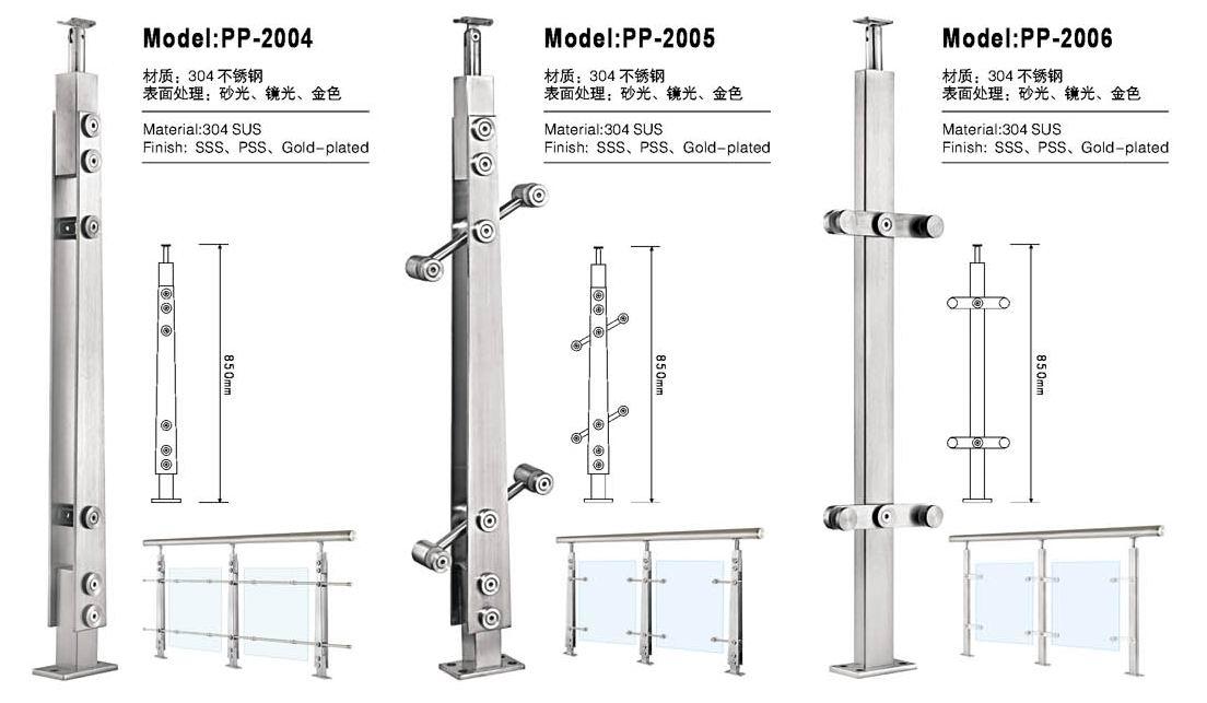 供应不锈钢楼梯立柱,楼梯栏杆