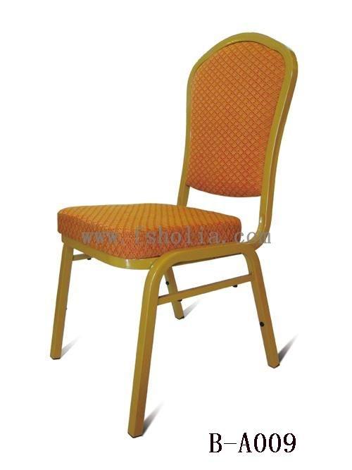 广东钢架酒店椅/铝合金宴会椅