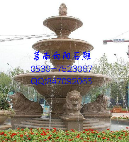 昆山石雕喷泉|黄金麻喷泉|黄锈石石雕喷泉