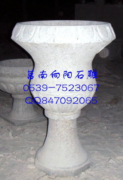 石雕花钵、黄锈石花盆、花钵石雕厂家价格
