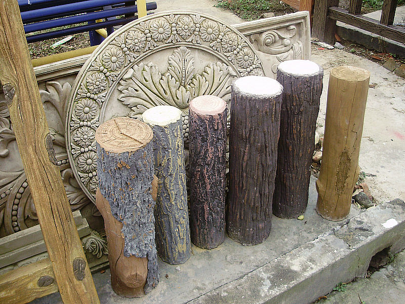 水泥仿木栏杆 水泥仿木桩 水泥底座
