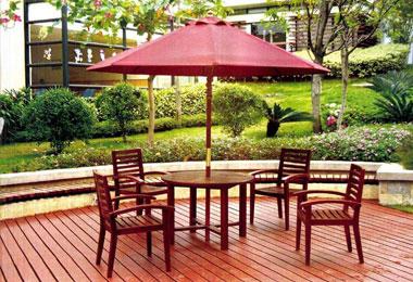 外防腐木休闲桌椅组合图片