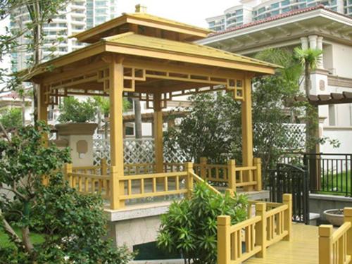 郑州屋顶绿化公司专业防腐木花架防腐木地板设计施工