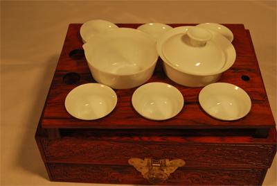 红木茶具|茶道|东阳木雕|工艺礼品|婚嫁用品11c001