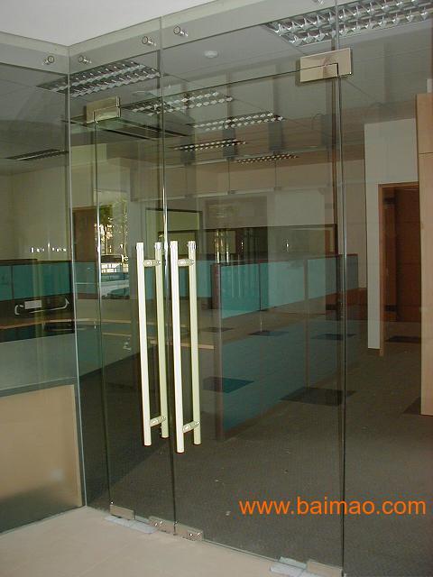 供应北京维修玻璃门 玻璃门下沉