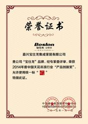 《Boslon宝仕龙 产品创新奖》