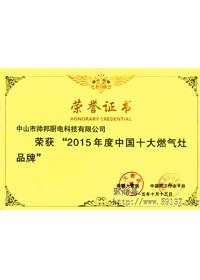2015年度十大燃气灶品牌
