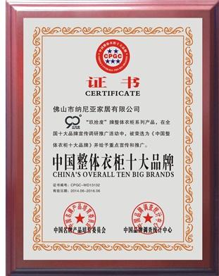 中国衣柜十大品牌2014