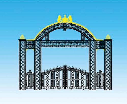 铁艺大门之欧式风格