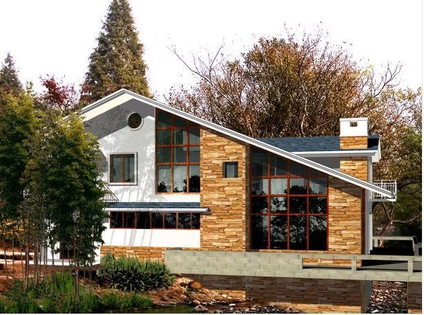 (3)轻钢别墅的钢结构建筑是环保型的可持续发展产品.