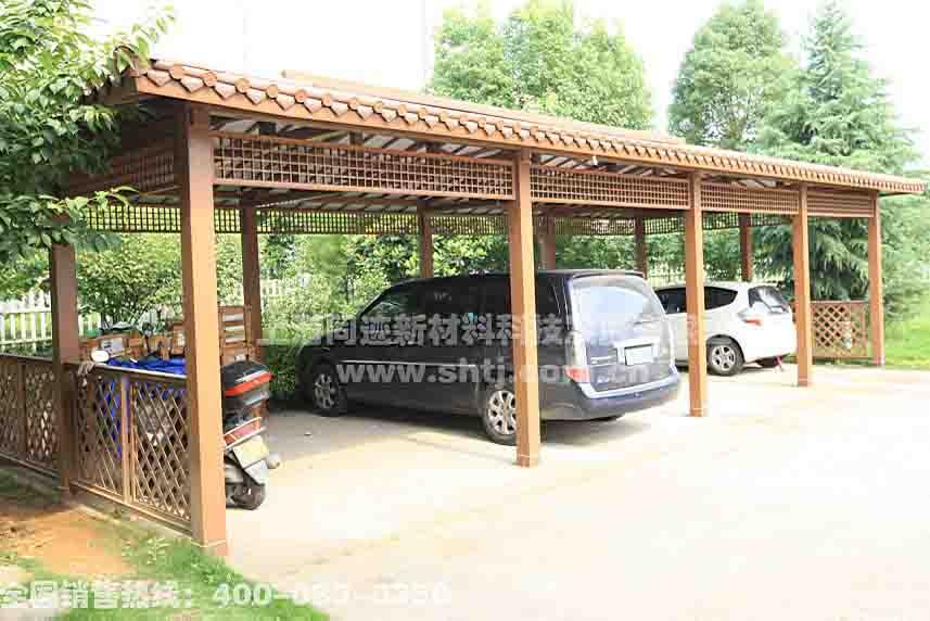 景观小品 铝合金仿古 停车棚 效果图,产品图,型