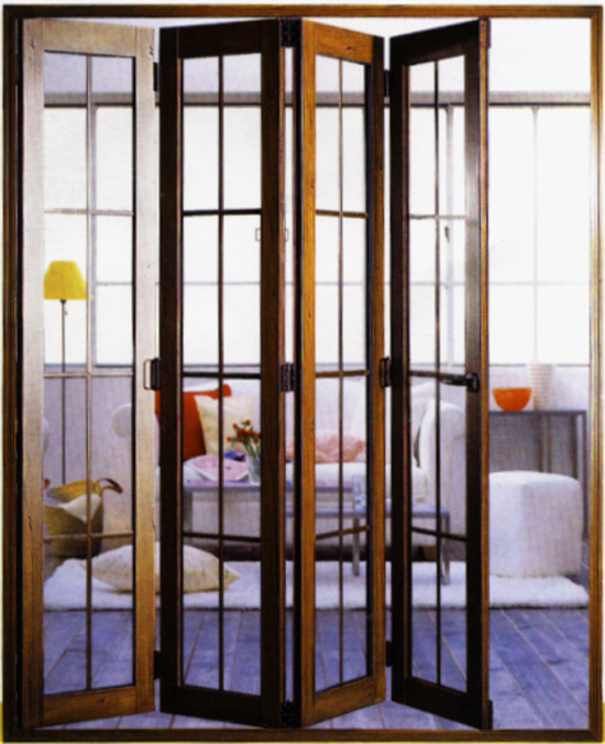 深圳客厅隔断折叠门|阳台折叠门--鸿泰门窗图片