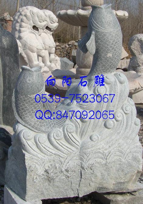 济南石雕鲤鱼|鲤鱼雕塑|鲤鱼石雕|石雕鲤鱼现货