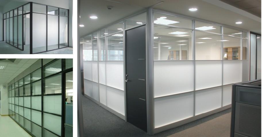 办公室隔断墙,玻璃隔断