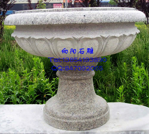 花盆石雕图片|花盆石雕价格|石雕花盆介绍