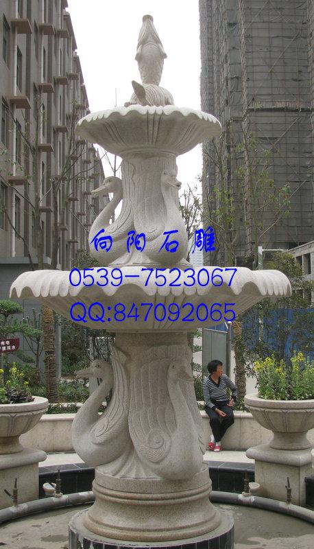 巨野黄锈石黄金麻石喷泉|厂家石雕喷泉价格