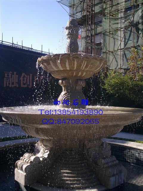 厂家批发江苏黄锈石喷泉|黄锈石景观水钵