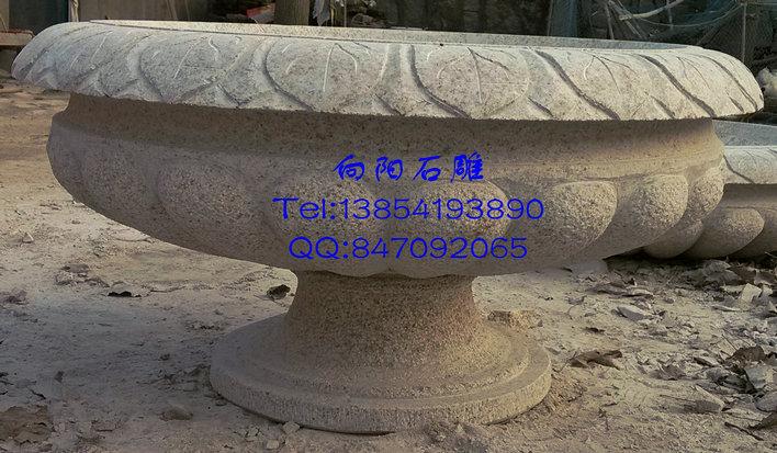 淮南石雕花盆|九江花盆价格|黄锈石花盆花钵