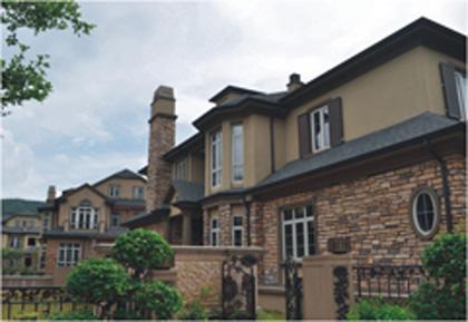 别墅豪宅 高层住宅外墙 装饰的涂料 效果图,产 高清图片