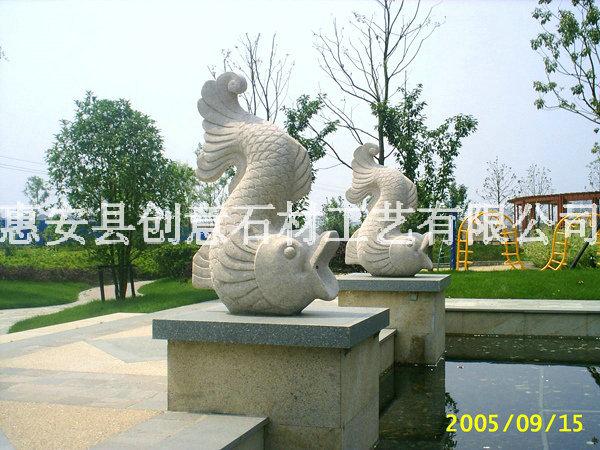 喷水雕塑,惠安石雕厂,石雕喷水动物