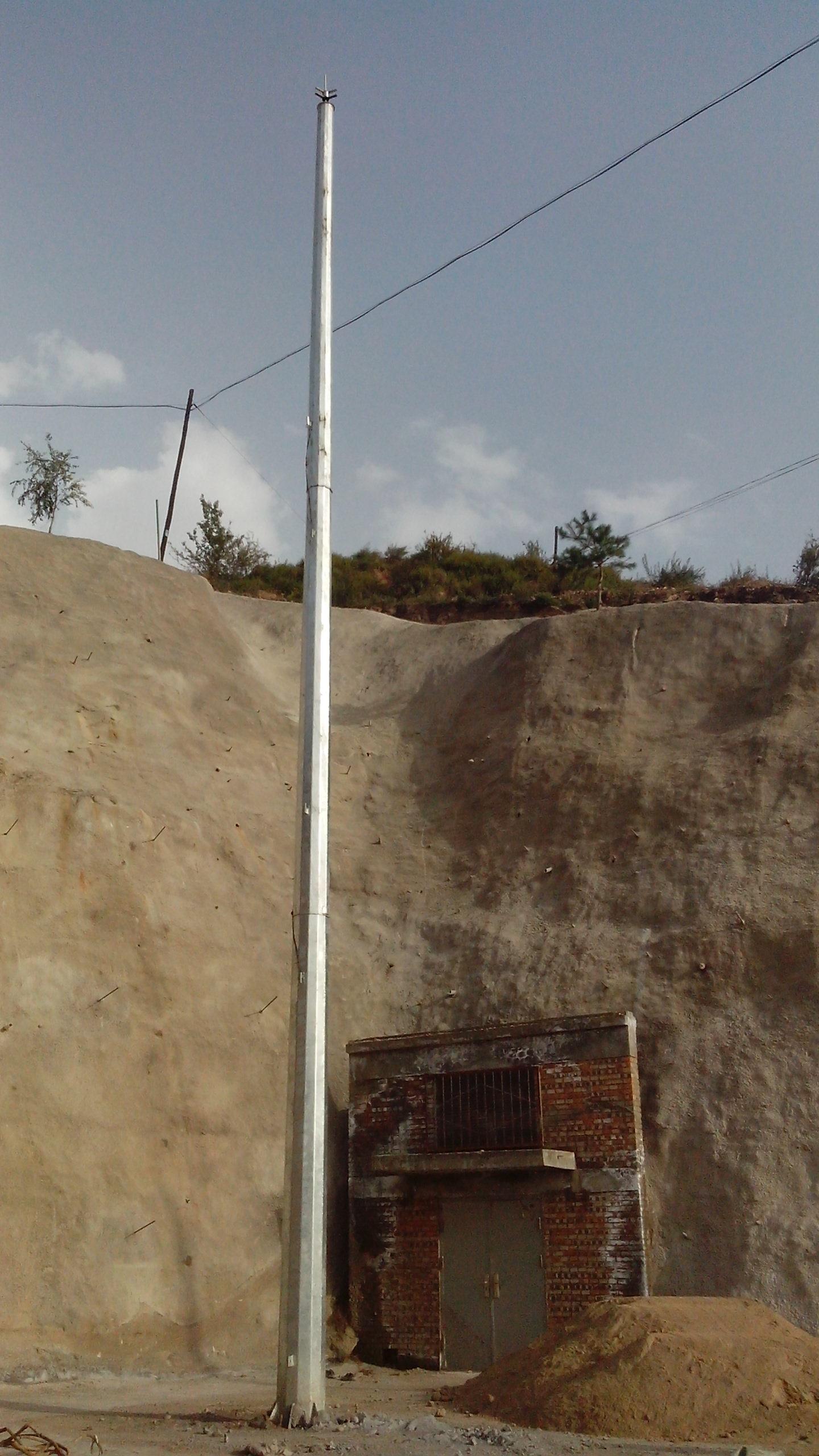 15米gh环形钢管杆避雷针-避雷针