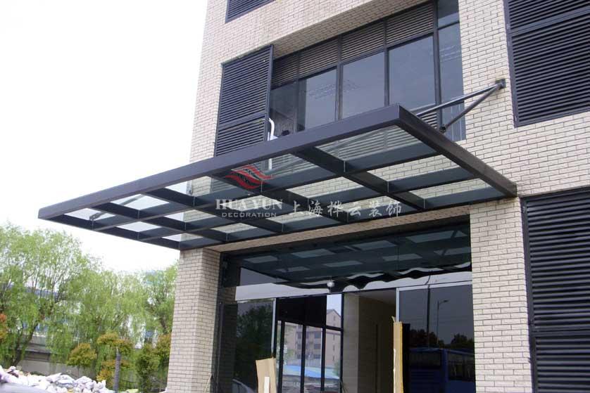 钢结构玻璃雨棚/上海创意雨棚新款雨蓬