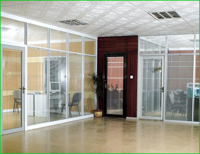 供应枣庄双玻百叶隔断,内置百叶玻璃隔墙