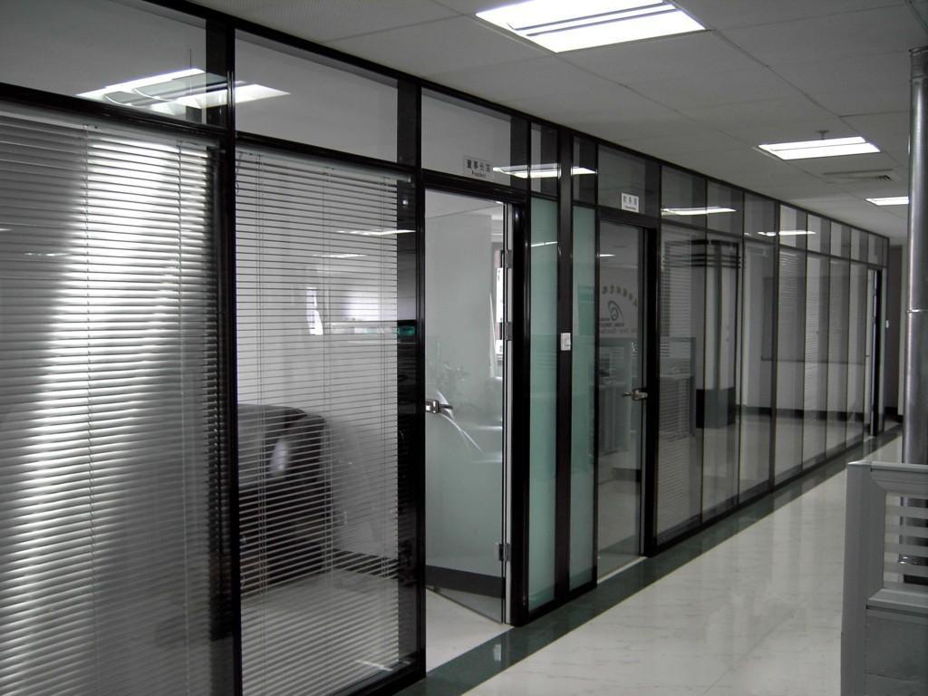 供应连云港双玻百叶隔断,内置百叶玻璃隔墙