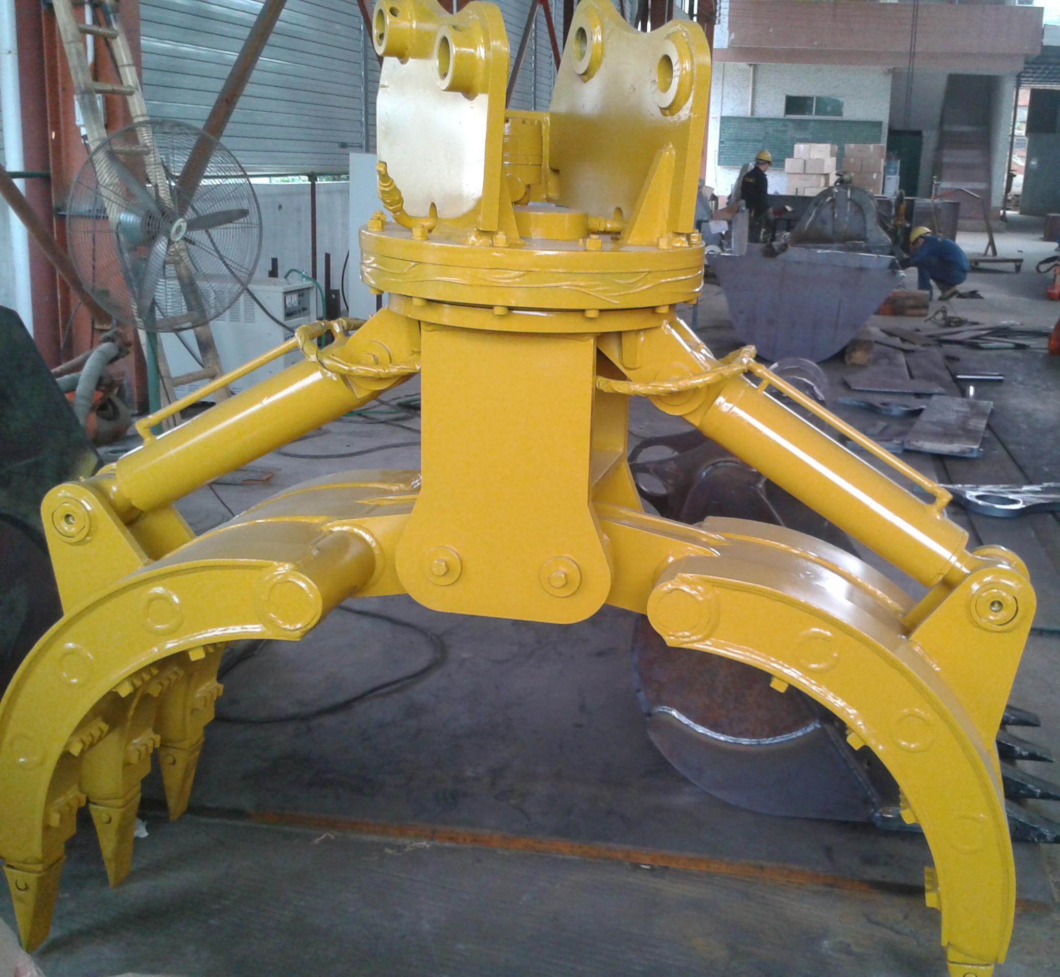 供应360?回转液压式挖掘机抓木器图片