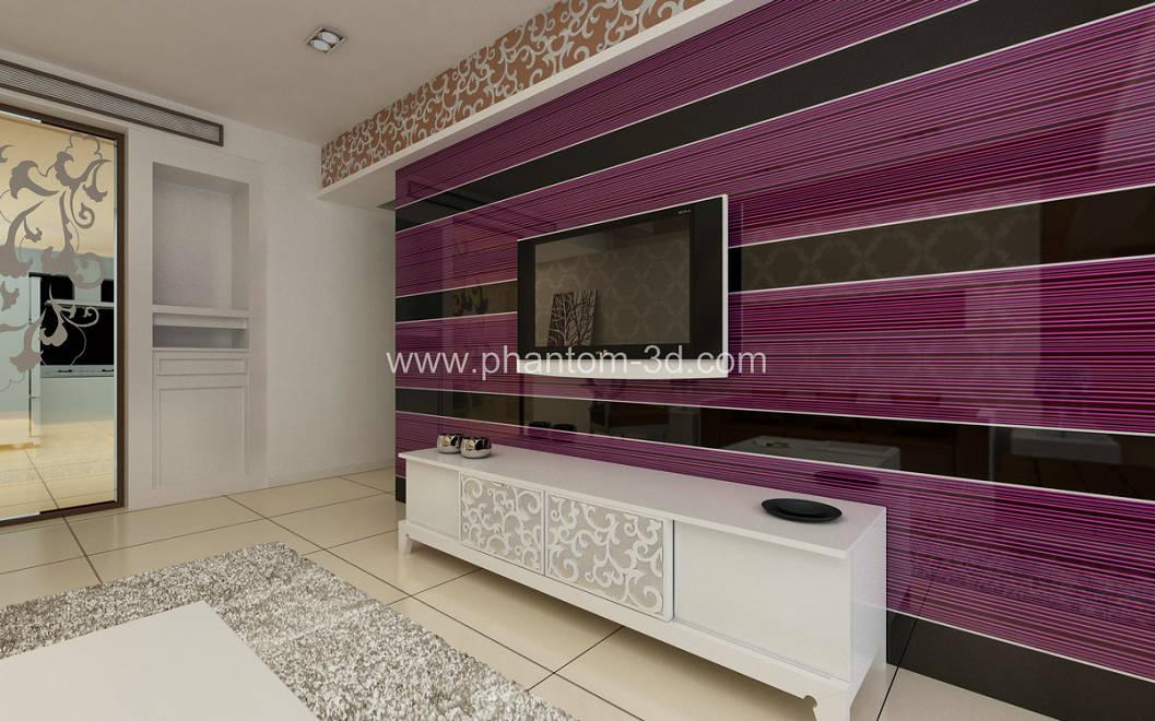 供应电视背景墙新型材料_立体玻璃