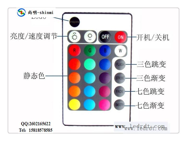 供应RGB灯条控制器,七彩LED灯带控制器