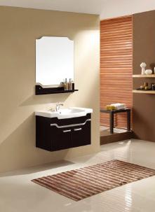 供应黑色浴室柜|时尚浴室柜|家庭小巧浴室柜