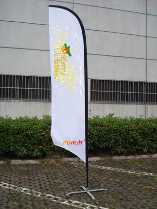 广州市沙滩旗制作户外旗制作羽毛旗订做