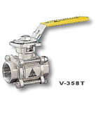 供应V-358T三片式全径不锈钢球阀