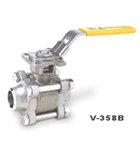 供应V-358B对焊三片式全径球阀