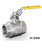 供应V-206两片式全径不锈钢球阀