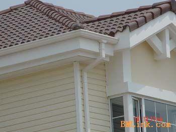 供应pvc别墅天沟  PVC檐槽  PVC方管