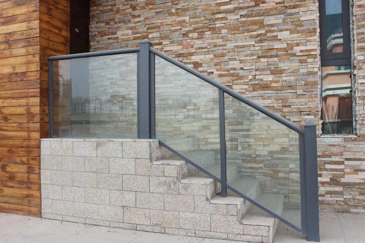 室内外铝合金楼梯扶手,玻璃楼梯扶手