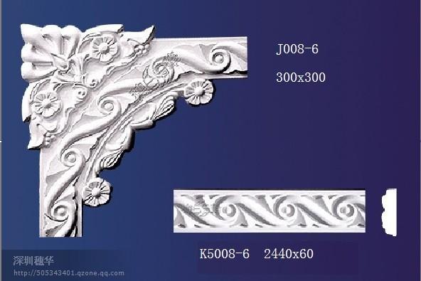 穗华石膏线条石膏花角石膏雕花平线简欧式效果图