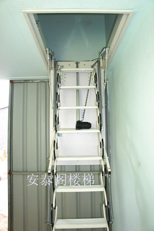 烟台推拉复式楼梯,潍坊自动阁楼伸缩梯