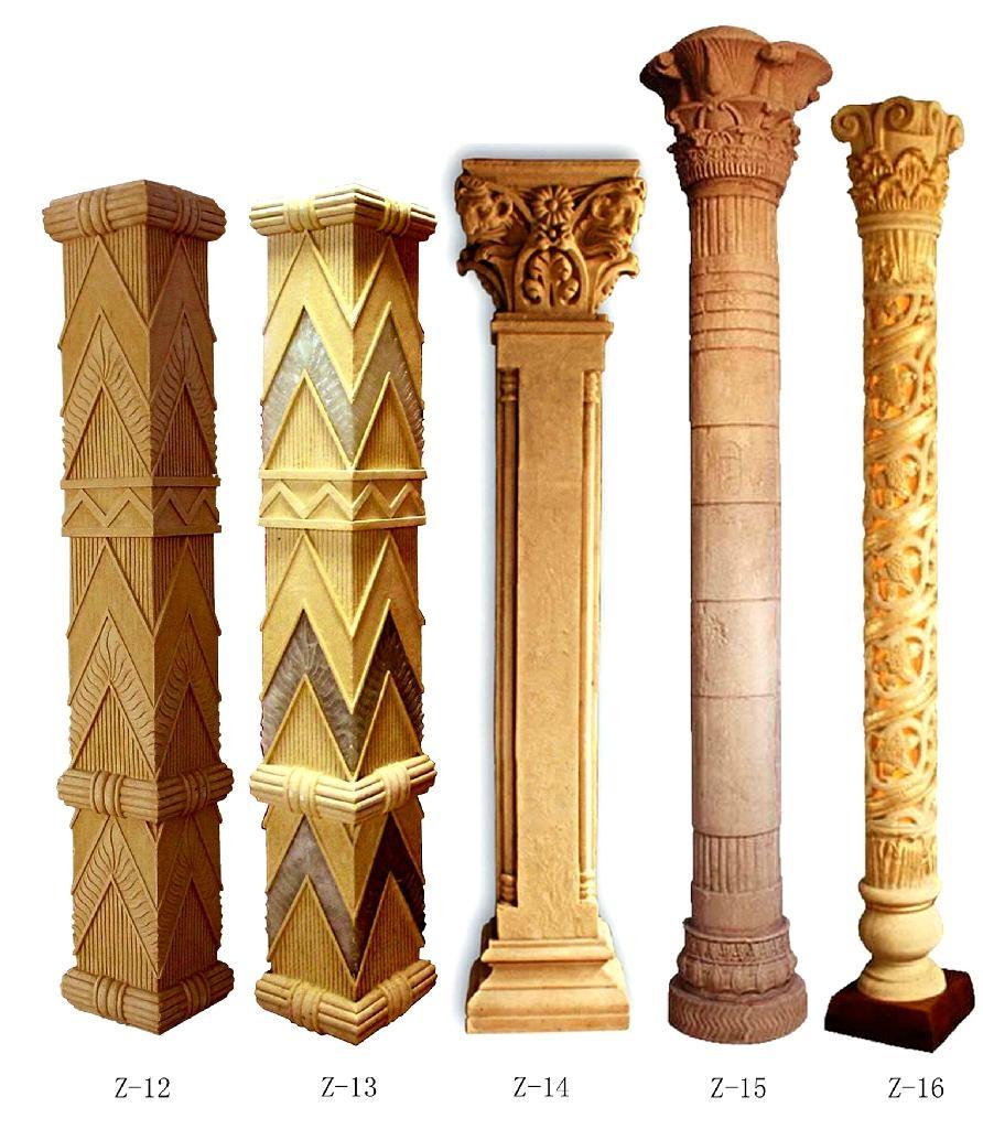 grc罗马柱,欧式罗马柱构件,grc檐口线脚图片