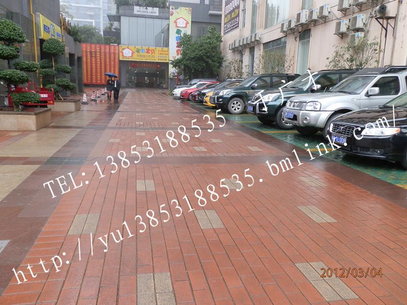 陶土 烧结砖 人行道 小区 别墅 效果图,产 高清图片