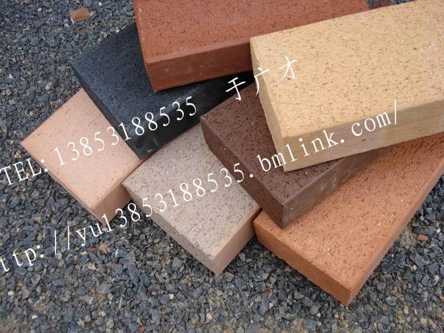 人行道地面砖 铺路砖 烧结砖 广场砖 高清图片