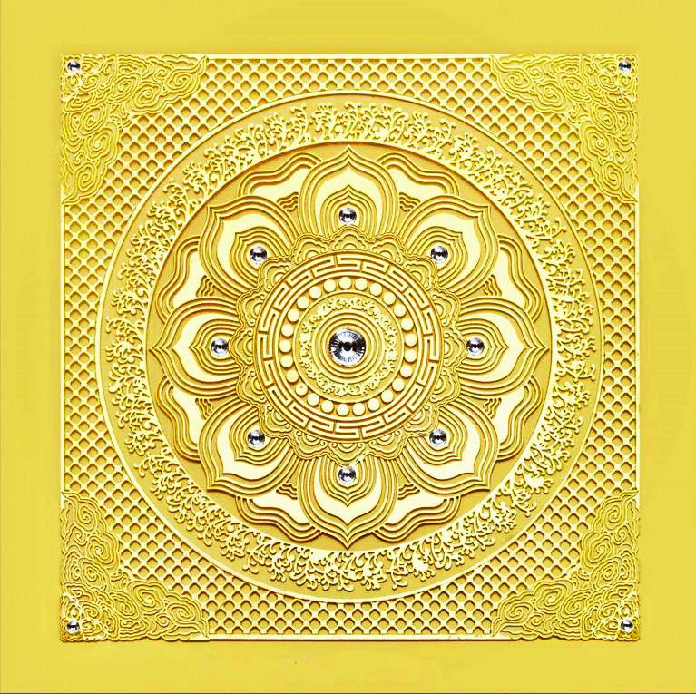 莲花祥云-中式古典艺术天花吊顶饰材,宫廷贵族华美装饰