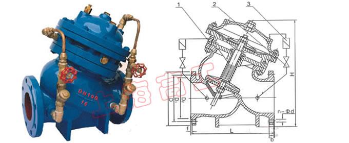 北京jd745x多功能水泵控制阀基本构造图片
