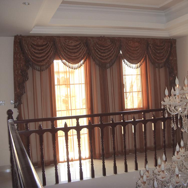 别墅楼道窗帘 欧式古典风格 窗帘生产厂家直销图片