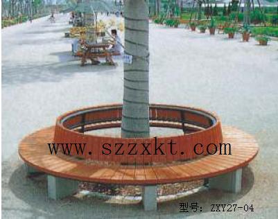 公园树围椅效果图
