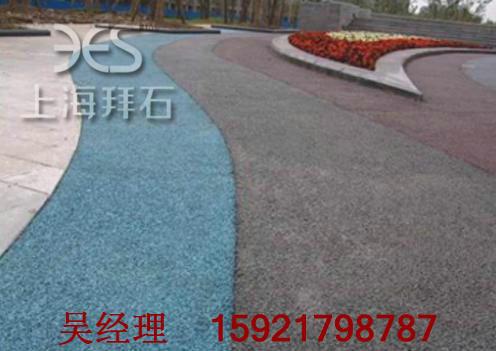 供应菏泽青岛彩色透水混凝土-艺术透水地坪
