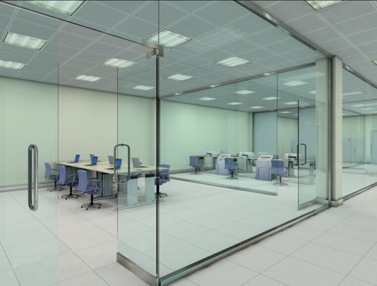 写字楼办公室玻璃外面风景图片